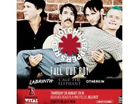 2 Tvital tickets Thurs 25th! Red Hot Chilli Peppers and Fall Out Boy