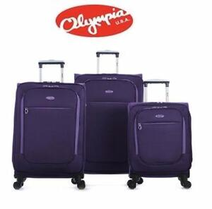 NEW OLYMPIA 3PC SPINNER SET   ULTRALIGHT EXPANDABLE SPINNER SET 3 PIECE LUGGAGE BAGGAGE TRAVEL 93088650