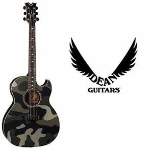 USED DEAN ACOUSTIC-ELECTRIC GUITAR   EXHIBITION GUITAR WITH APHEX - CAMO GRAPHIC  85252267