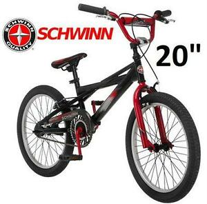 "NEW SCHWINN BOY'S THROTTLE 20"" BIKE BMX Bicycle, Black CYCLING RIDING SPORT FITNESS EXRCISE OUTDOOR"