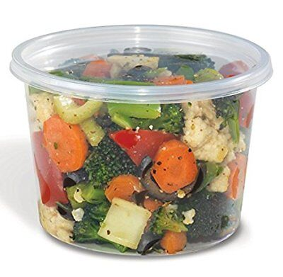 Safepro Food Storage Containers With Lids 16-ounce 500 Pcs
