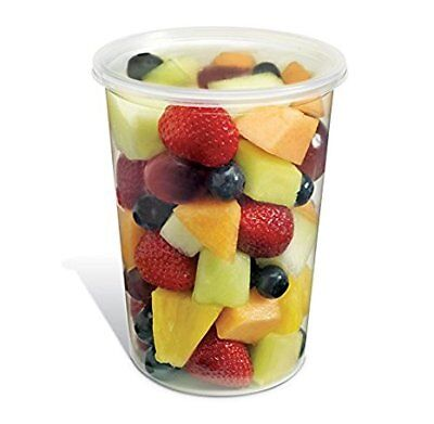 Safepro Food Storage Containers With Lids 32-ounce 100 Pcs