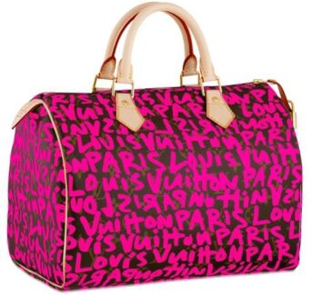 Louis Vuitton Graffiti Speedy 30 Fuchsia Pink Monogram Chatswood Willoughby Area Preview