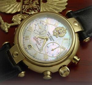 Russian-mechanical-chronograph-watch-Poljot-3133-President-Putin-Perl