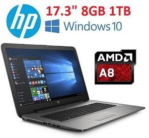 NEW HP AMD A8 17.3 TOUCH LAPTOP - 120864149 - AMD A8 1TB HDD 8GB MEMORY WINDOWS 10 COMPUTER NOTEBOOK PC
