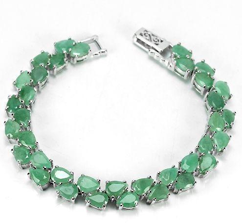 Silver Emerald Bracelet Ebay