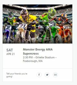 Monster Energy AMA Supercross 2 Tickets for sale!