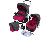 Graco candy rock system - CHEAP - REDUCED - Stroller - Carry cot - Car adapter - Excellent condition