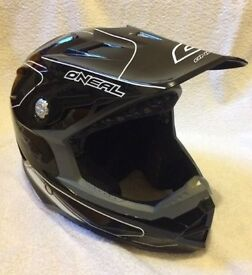 O'Neal Full Face Bike Helmet Black Medium Very Good Condition