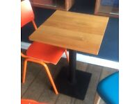 Solid oak square table - used but in good condition - £120 each or £300 for 3