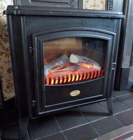 Dimplex WOD20 2kW electric fire. Burning log effect