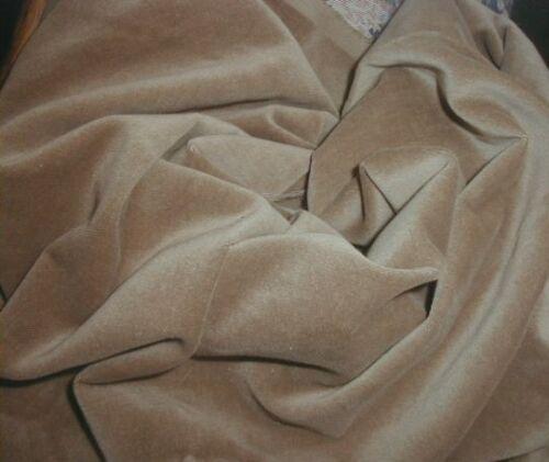 Antique Edwardian Millinery Velvet Soft Toast Beige Velveteen 1+ yds Thin Supple