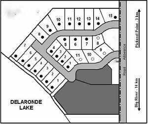 Lake Lot, Delaronde Lake, LAND ONLY. Power &Road In subdivision.
