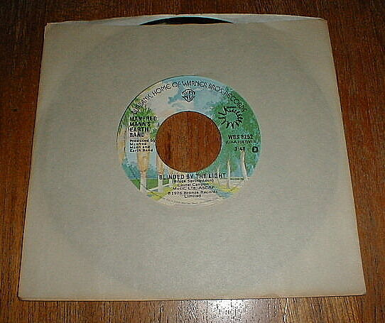 "MANFRED MANN Orig 1976 ""Blinded By The Light"" 45 NM UNPLAYED"