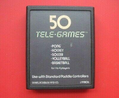 Pong Sports Atari 2600 50 Tele-Games Sears *Cleaned & Tested*