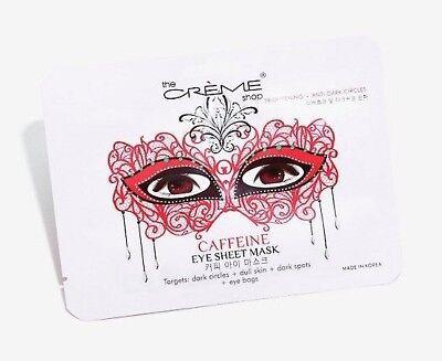 The Creme Shop Caffeine Masquerade Eye Sheet Mask Targets Dull Skin Dark Circles
