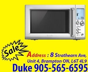 Breville Countertop Microwave 1.2 Cu.Ft Die Cast Metal