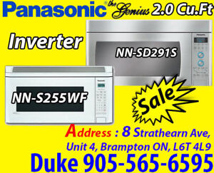 Panasonic Over The Range White, Stainless Microwave From