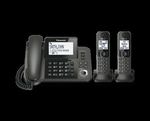 Panasonic cord/cordless phone with two handsets