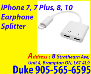 Apple, Brand New iPhone, iPhone USB, Earphone Spliter Cable