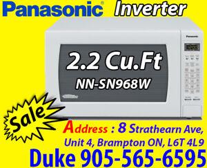 Microwave White Panasonic NNSN968W Countertop 2.2 Cu.Ft