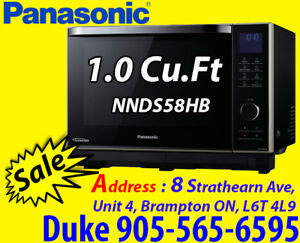 Panasonic Premium 1.0 Cu.Ft Steam Combination Microwave