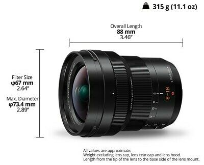Panasonic Lumix 8-18 G F 2.8-4.0 Leica Dg Vario Elmarit H-E08018 - new