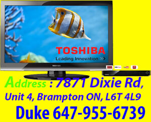 "Toshiba 55"" 1080P, 120Hz HDTV + Smart TV BlueRay Player"