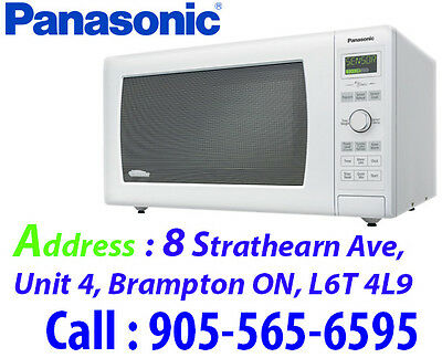 White Panasonic 1.6 Cu. Ft. Microwave (NNSD767w)