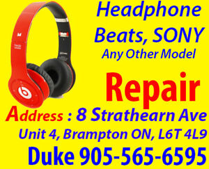 Wireless Beats by Dre Headphone Repairs, Any Brand, Samsung
