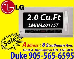 Microwave LG LMHM2017ST 2 cubic ft Over-the-Range