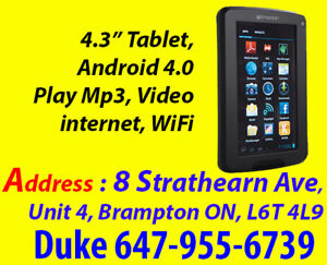"""Boxing Day Sale 4.3"""" Android 4.0 Internet Tablet / mp3 Player"""