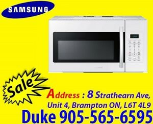 Samsung Microwave 1.8Cu.Ft Over-The-Range 400CFM ME18H704SFW