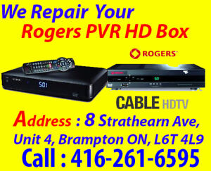 > PVR, Rogers Digital Box Repair, DVR, NO POWER, No Picture