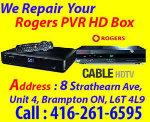 4k, PVR, Rogers Digital Box Repair, DVR, NO POWER, No Picture