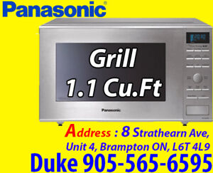 Stainless Steel Panasonic 1.1 Cu.Ft.Grill Microwave (NNGD693S)