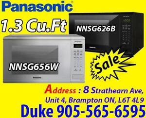 Panasonic 1.3 Cu. Ft. Counter top Microwave - White / BLACK Sale