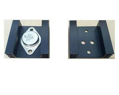 5pcs To3 Transistor Heat Sinks To-3 Black Amuminum 45x45x14mm