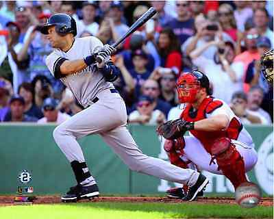 Derek Jeter Single In Last At Bat In His Final Game 9 28 2014 Yankees 8X10 Photo
