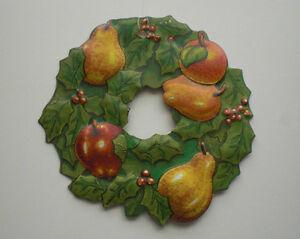 Vintage Christmas Tin Wreath Tree Ornament, Department 56 Kitchener / Waterloo Kitchener Area image 1