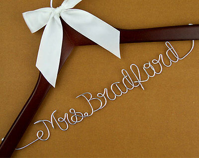 Personalized Wedding Hanger, Bridal Hanger, Bride Bridesmaid Name Hanger Gift