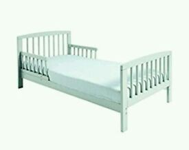 Kinder valley Toddler cot bed. White. Brand new. FREE mattress. 2 left only.