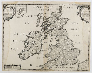 Map (1642) of England, Scotland and Ireland by Taverier