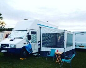 Iveco Daily Motohome 1993 4 berth with awning