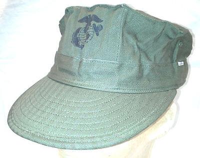Original US Marine Corps USMC 1950's Herringbone Twill HBT Cover Hat