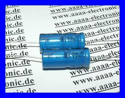 NICHICON Elektrolyt Kondensator  47µF 400V 125° 16x25mm RA.7,5mm 2 Stück