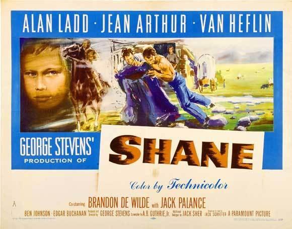 SHANE Movie POSTER 30x40 Alan Ladd Jean Arthur Van Heflin Brandon de Wilde Jack