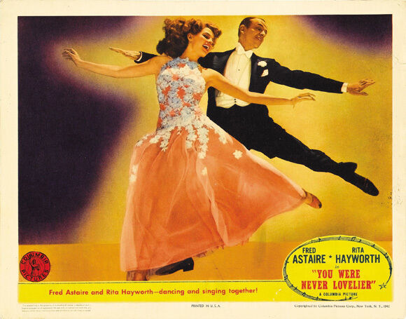 YOU WERE NEVER LOVELIER Movie POSTER 22x28 Half Sheet Fred Astaire Rita Hayworth