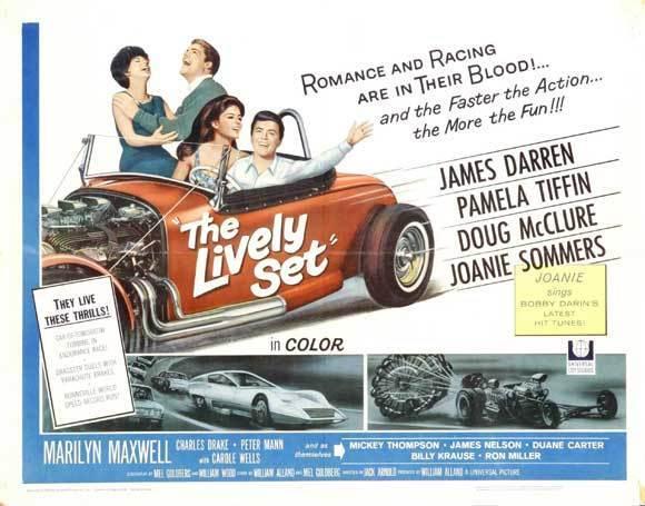THE LIVELY SET Movie POSTER 22x28 Half Sheet James Darren Pamela Tiffin Doug