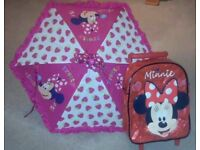 Kids minnie mouse trolly and umberella